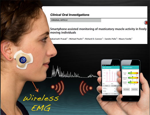 Prototype wirelessly monitors jaw muscle contractions