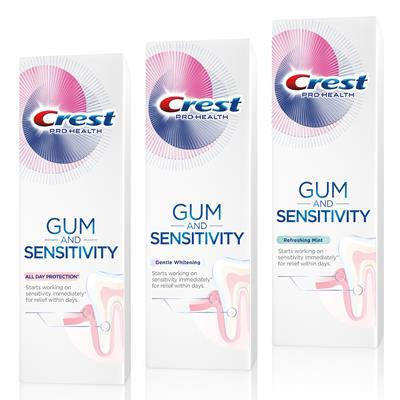 Crest Gum and Sensitivity toothpastes
